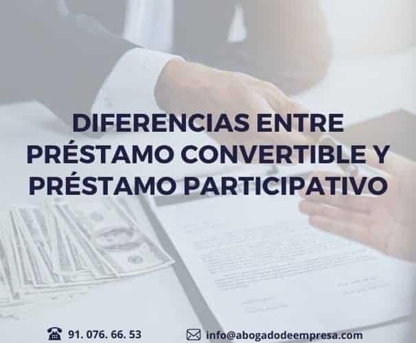 Diferencias entre préstamo convertible y participativo